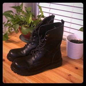 Mens Lace Up Combat Boots
